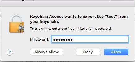 Keychain access application