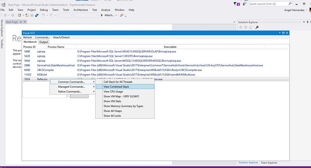 VisualSOS Adds SOS and WinDbg Debugging Tools to Visual Studio