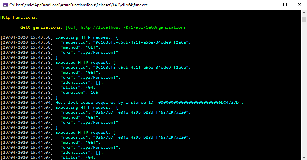 Azure Function in F# is working