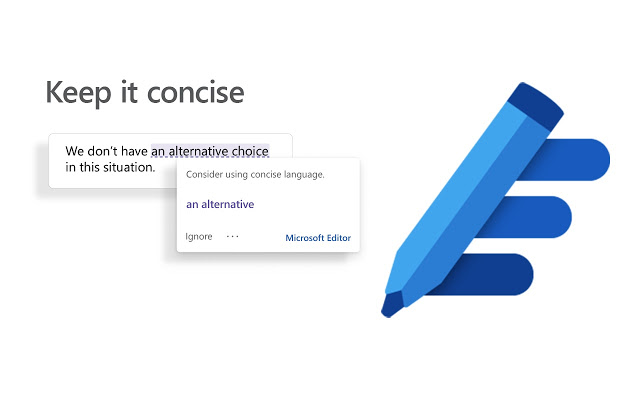Microsoft Editor - Keep it concise