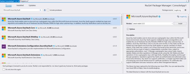 Microsoft.Azure.KeyVault