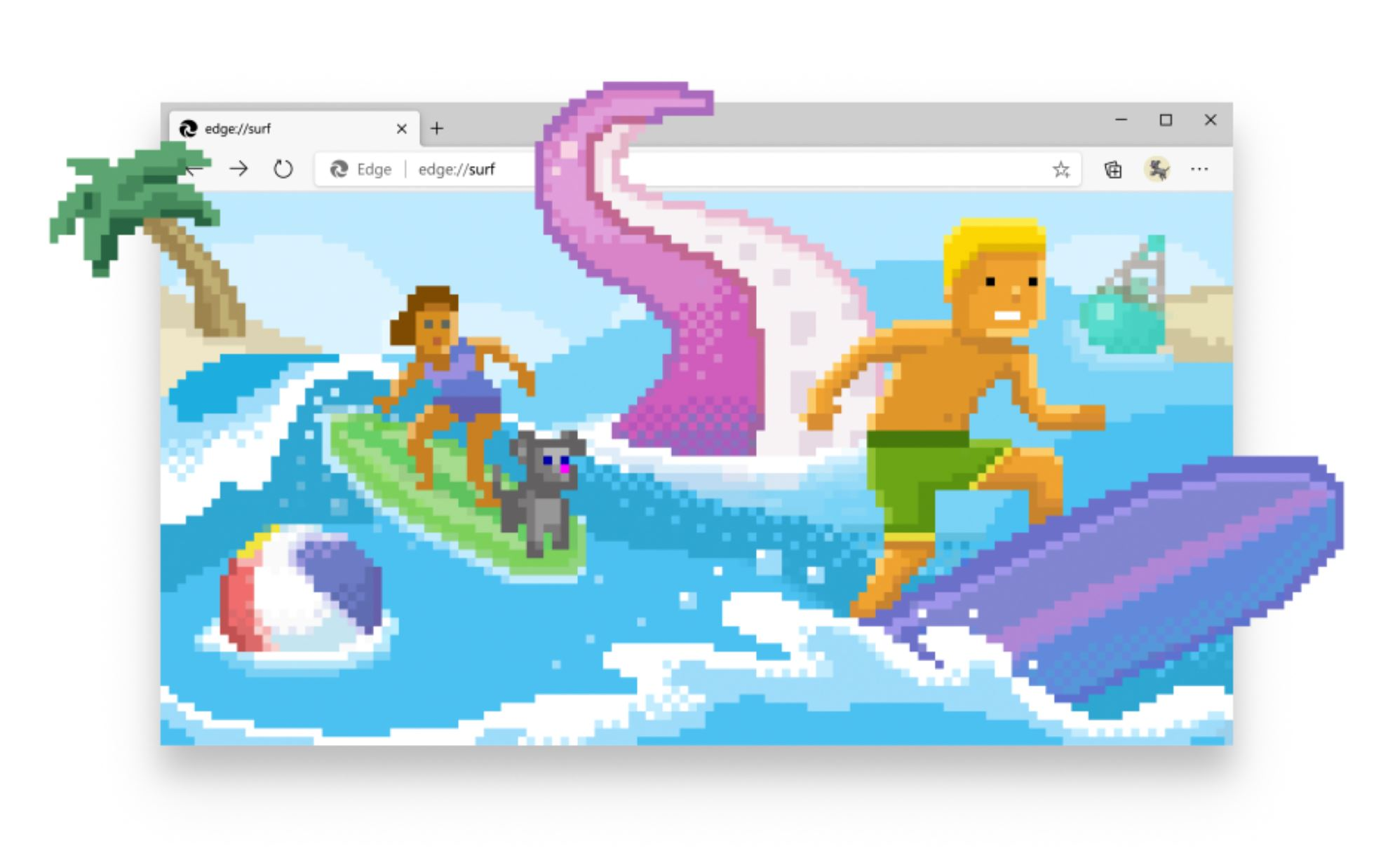 The new surf game in Microsoft Edge now available for everyone