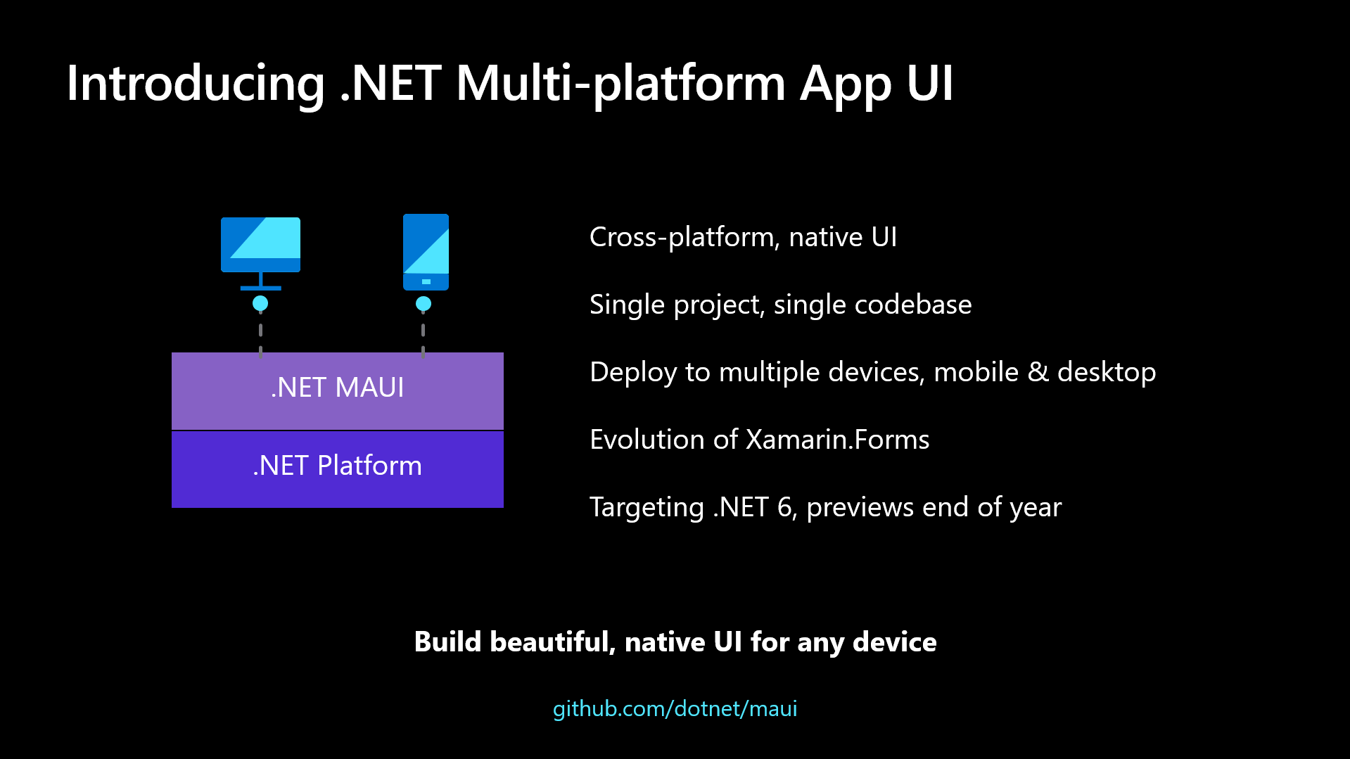 .NET Multi-platform App UI Overview