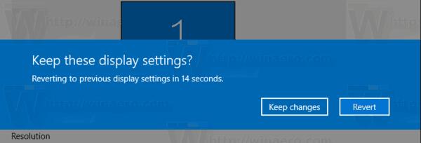 Windows 10 Screen Resolution Keep Changes Revert