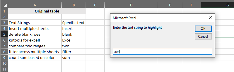 Microsoft Excel - Run HighlightStrings macro