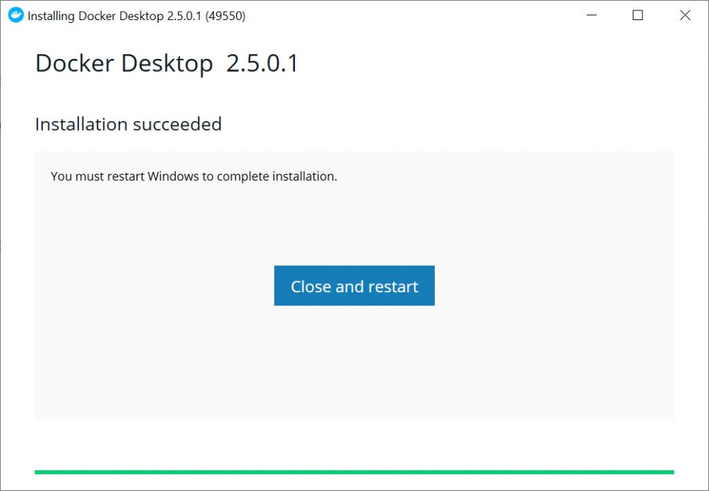 Docker Desktop Installation - Deploy ShinyApps with Azure and Docker