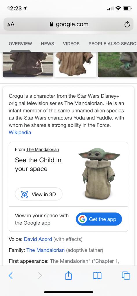 grogu baby yoda google search