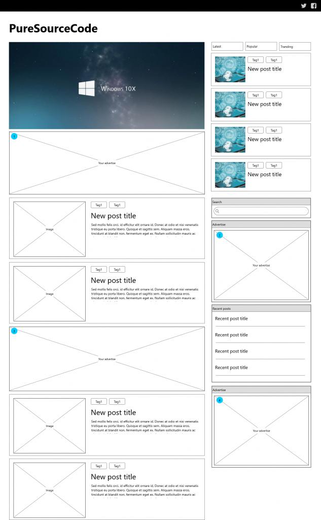 Wireframe HomePage