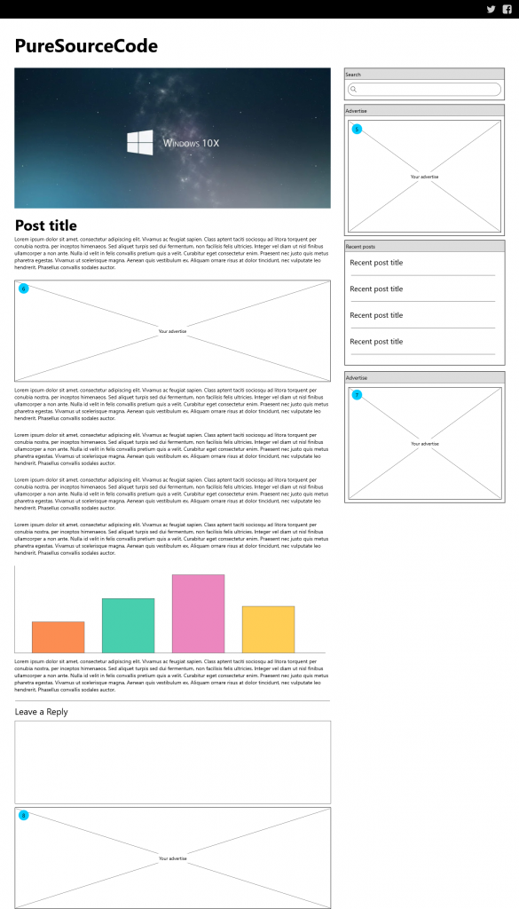 Wireframe Post Page