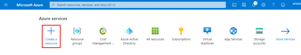 Add a new resource in Azure Portal - Deploy ShinyApps with Azure and Docker