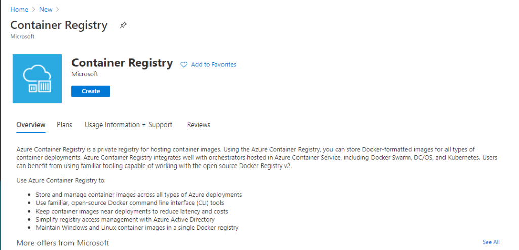 Create a new Container Registry on Azure - Deploy ShinyApps with Azure and Docker
