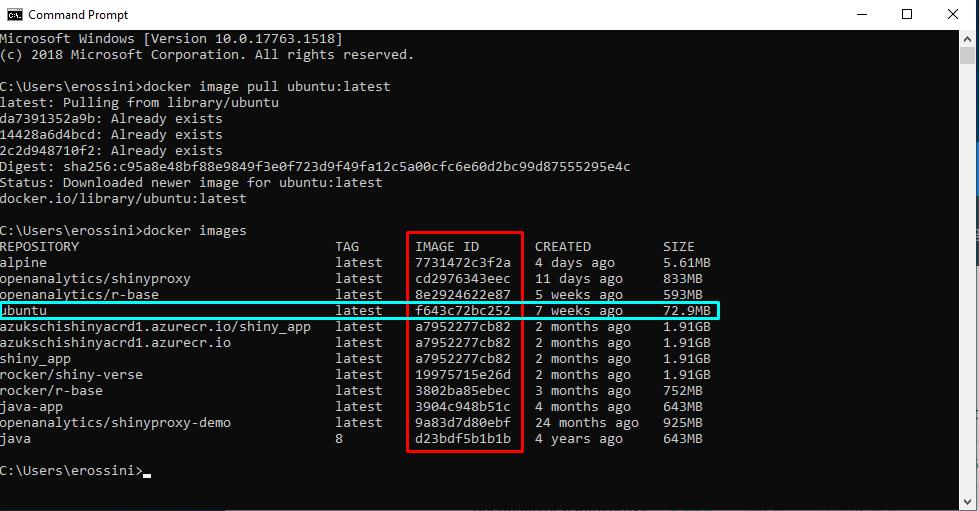 List of Docker images