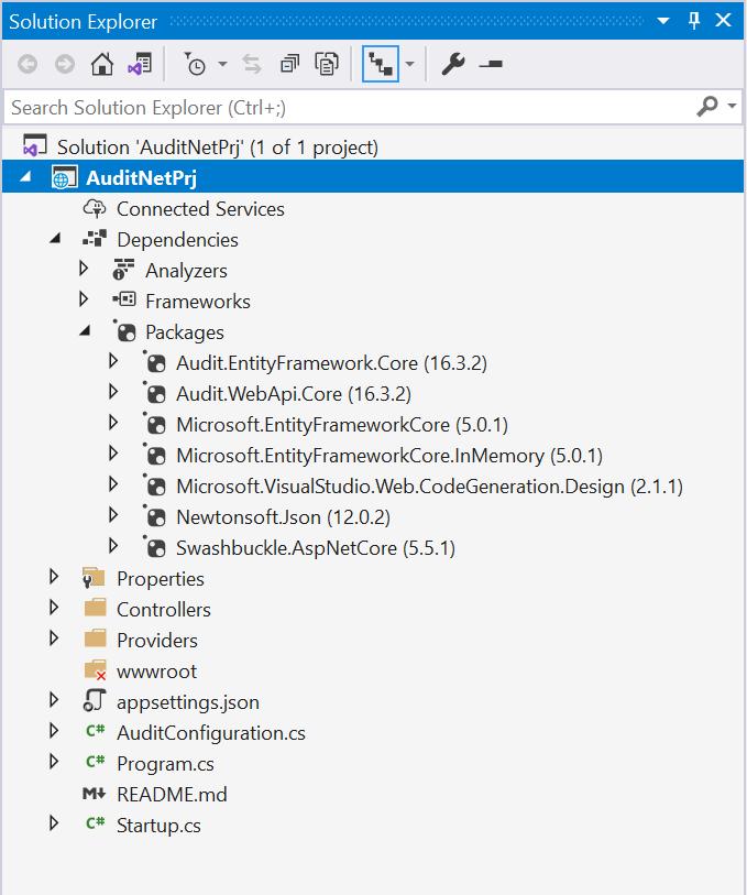 Audit.NET template project
