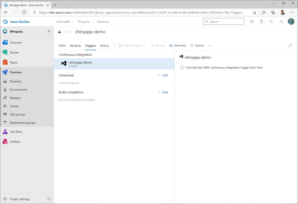 Triggers in the Azure DevOps pipeline - Customize your pipeline in Azure DevOps
