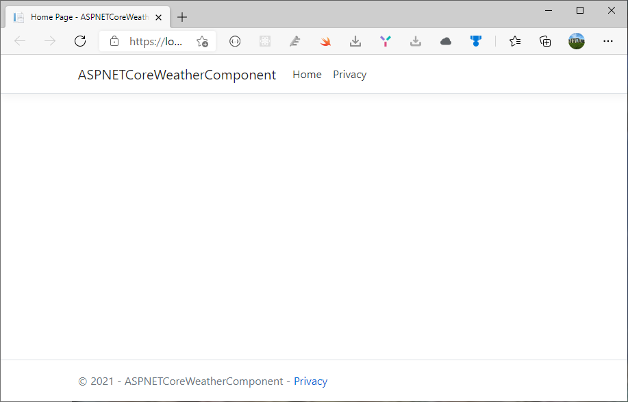 First run - Creating View Components in ASP.NET Core