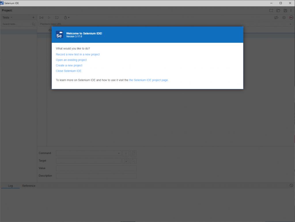 Selenium IDE from Microsoft Edge