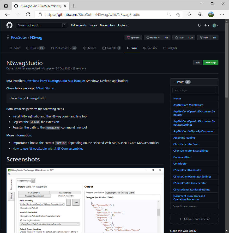 NSwagStudio on GitHub - How adding an UI built in Blazor