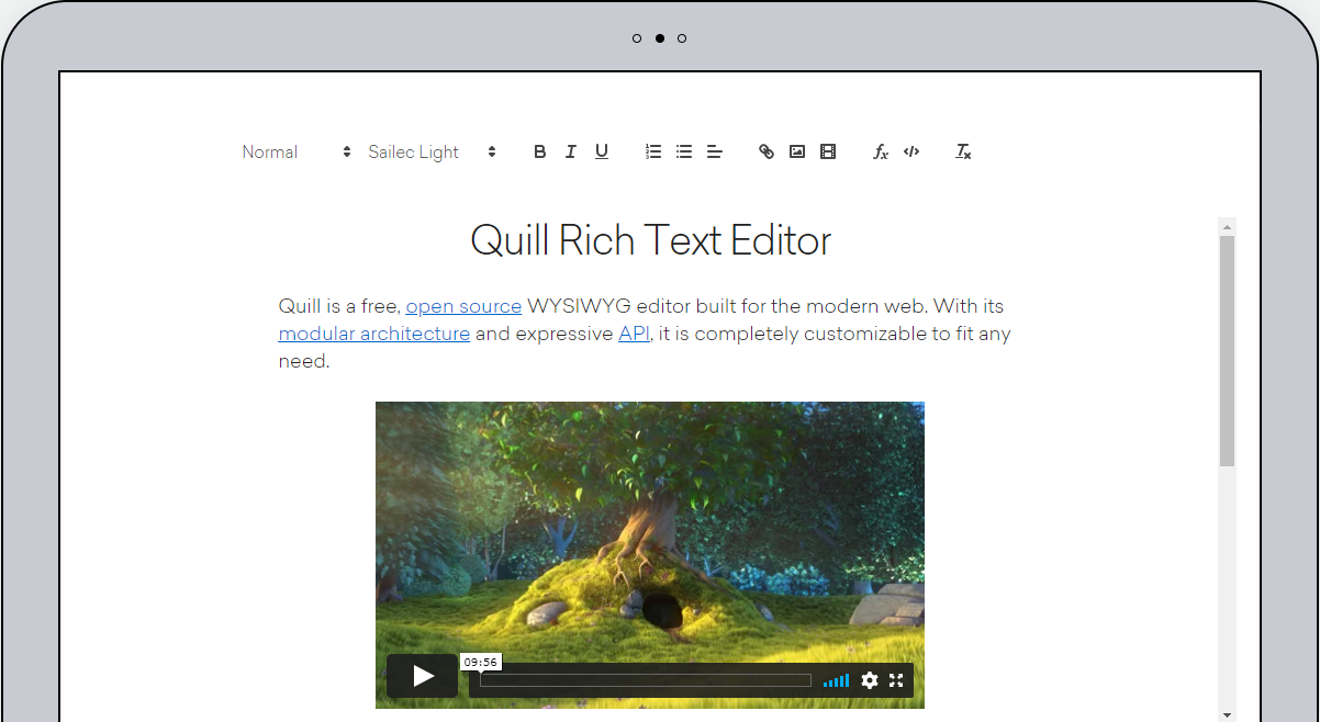 Quill Rich Text Editor example - Create a Blazor component for Quill