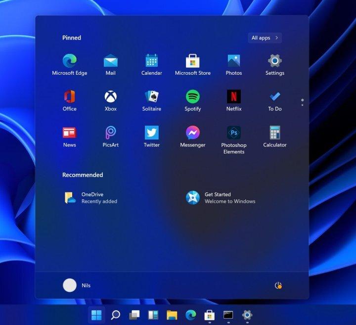 Windows 11 - Desktop (different colours) - Windows 11 leak reveals new UI