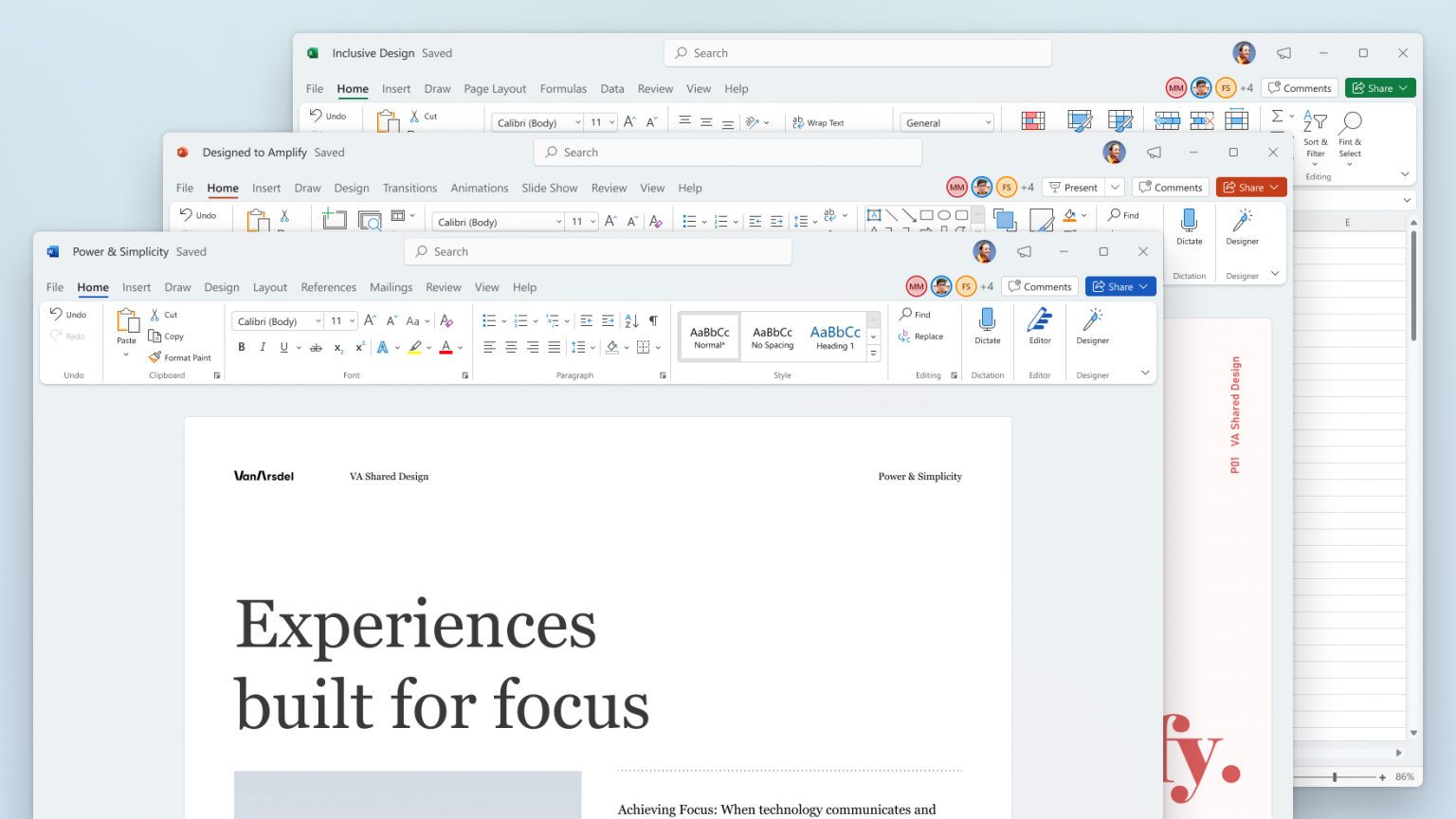 Word, Excel, and PowerPoint on Windows 11