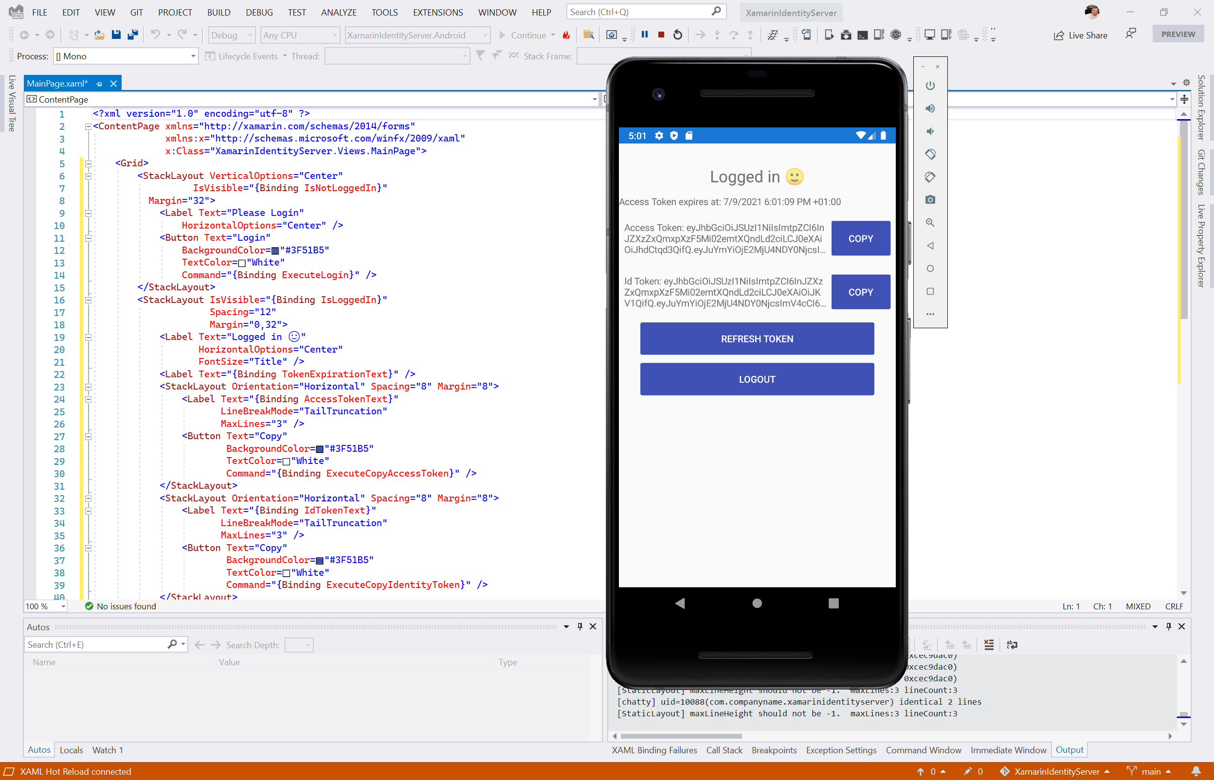 Authentication in Xamarin Forms with IdentityServer