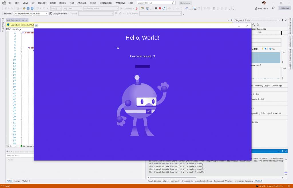 Run Windows application - lnstall MAUI with Visual Studio 2022