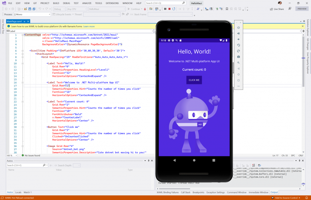 Run Android application- Install MAUI with Visual Studio 2022