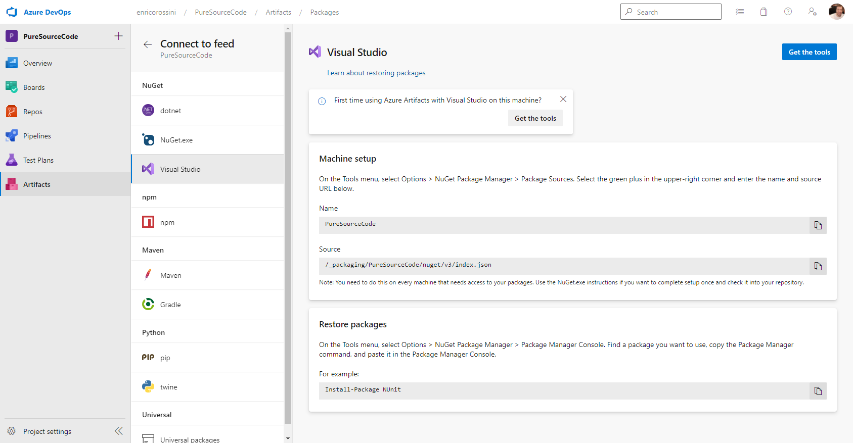 Visual Studio instructions